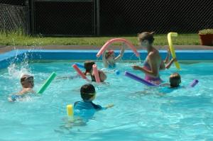 Scene from a swim class